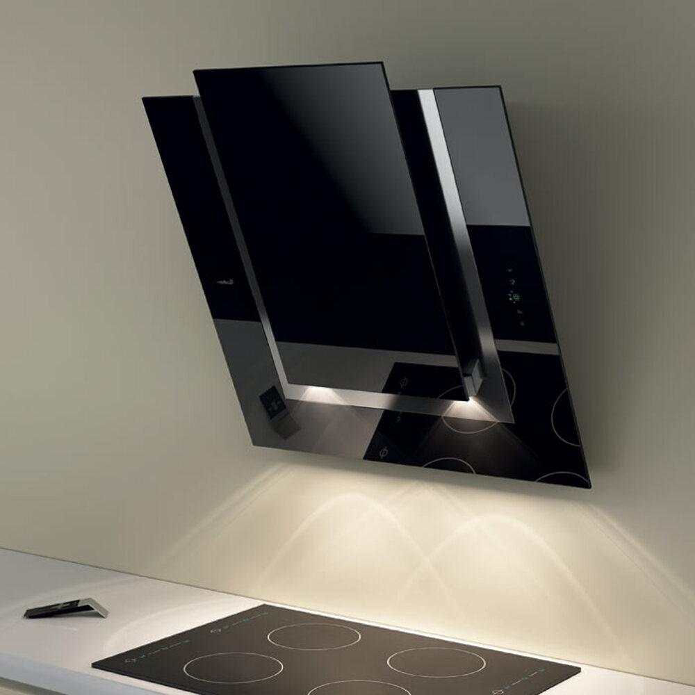 Svart Koksflakt : Eico Ico N, svart, Spegelglas vogghongd koksflokt ENDAST 20995 kr