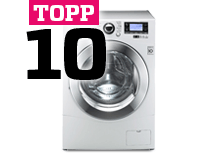 Topp 10 tvättmaskiner