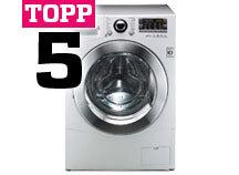 Topp 5 tvättmaskiner
