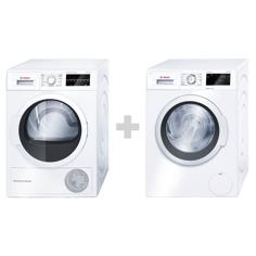 Bosch WAT286I7SN+WTW854I7SN Frontmatad tvättmaskin